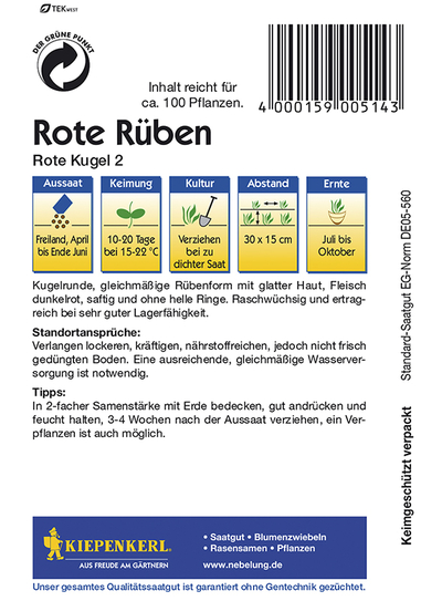 Rote Beete Rote Kugel2 Portion