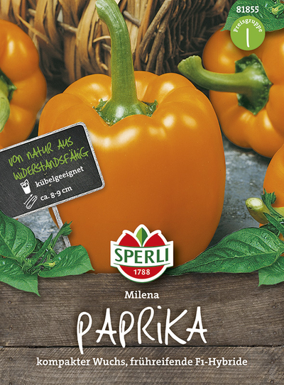 Paprika Milena F1 Gelb-Orange