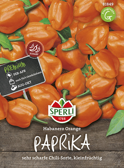 Paprika Habanero orange SPERLING`s Hotfire