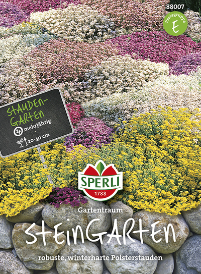 Steingarten Stauden, Mehrjährige Blumenmischung - Samenshop24 - Saatg